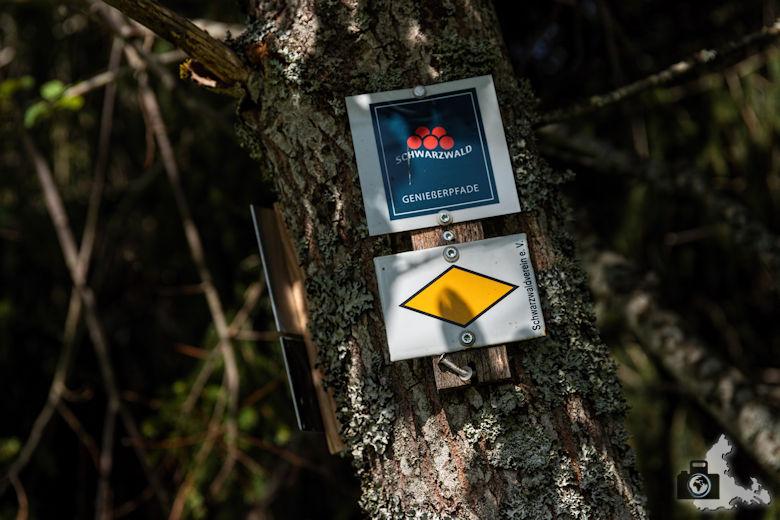 Wegweiser, Schwarzwälder Genießerpfad Heilklima-Steig Schönwald
