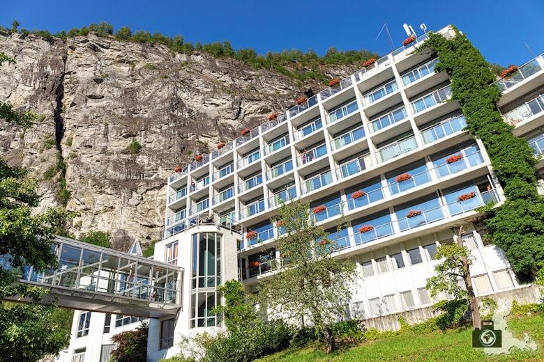 Außenansicht, Hotel Geiranger, Norwegen