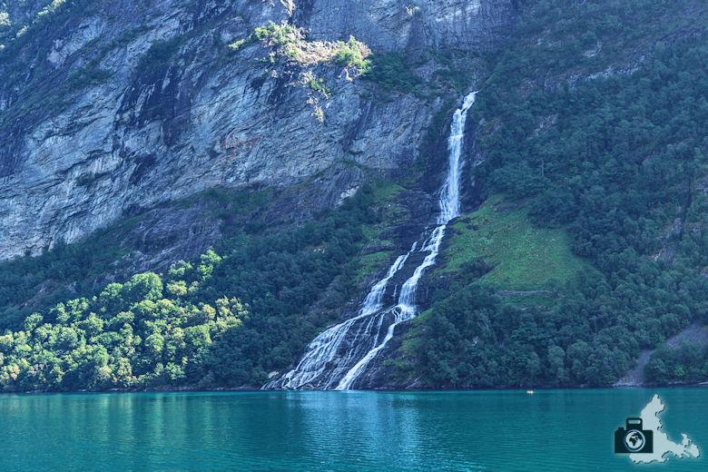 Wasserfall am Geirangerfjord