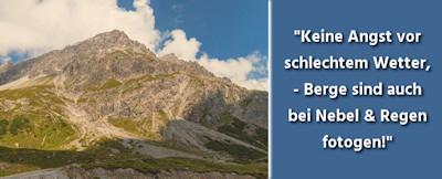 Landschaftsfotografie - Berglandschaften und Berge fotografieren - 35 Fotografie Tipps