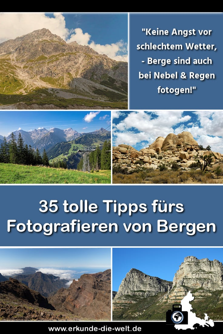 Landschaftsfotografie - Berglandschaften und Berge fotografieren