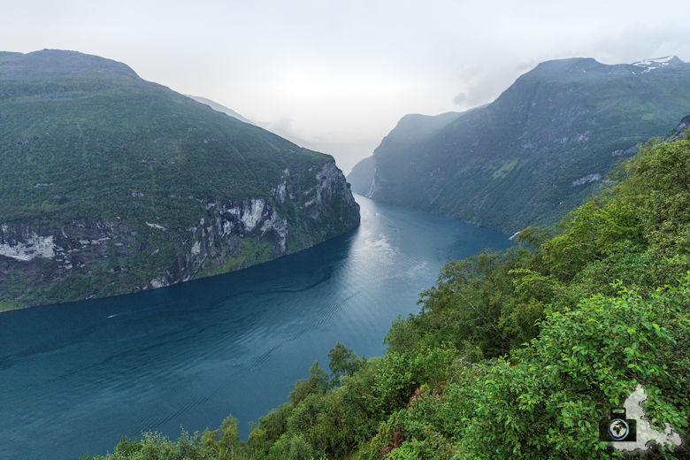 Geirangerfjord im Regen