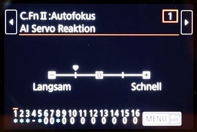 Tipps und Einstellungen Canon 6D Mark II - Custom Functions