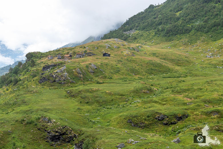 Gebirgsstraße Richtung Dalsnibba, Geiranger, Norwegen