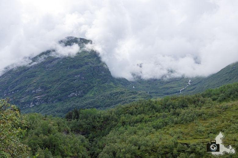 Berglandschaft nahe Geiranger, Norwegen