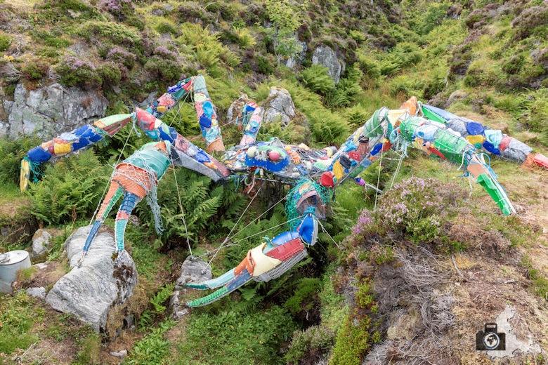 Atlantikstraße Norwegen - Krabbe aus Abfall