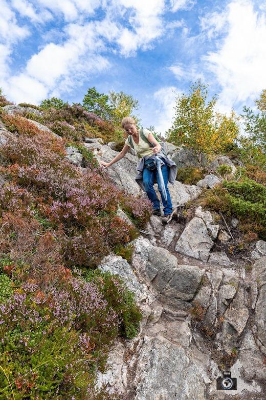 Jendemsfjellet Wanderung - Kletterpartie