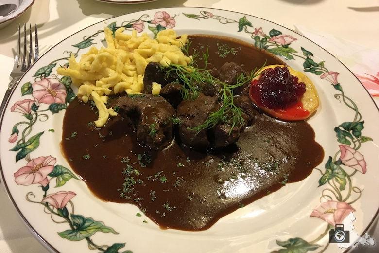 Restaurant Pfaff - Hirschragout
