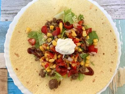 Rezept - Mexikanische Küche - Wraps mit Hackfleisch, Salat & Salsa