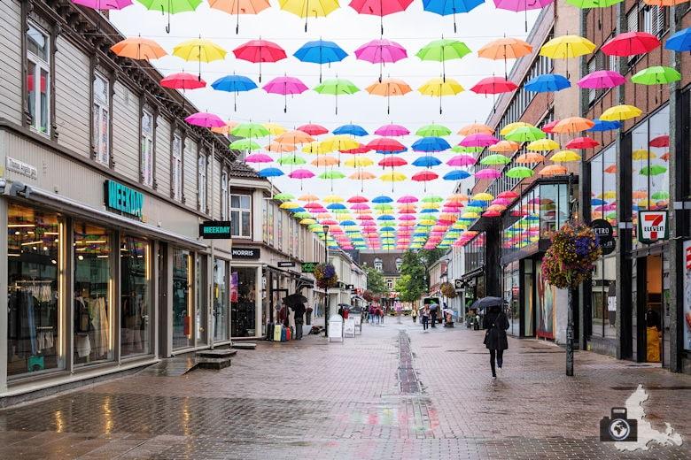 Trondheim - bunte Regenschirme