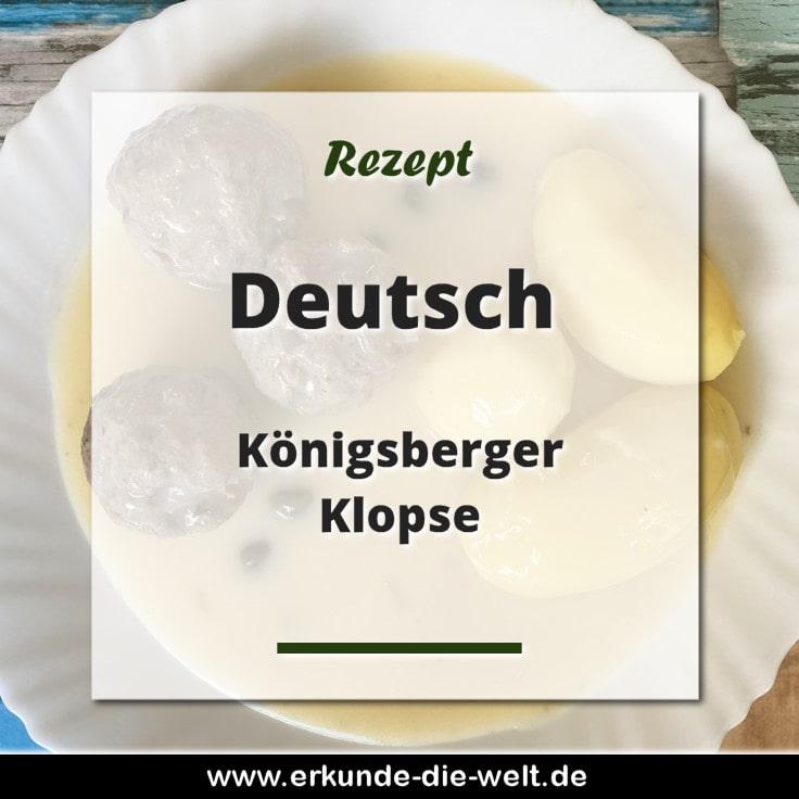 Rezept - Deutsche Küche - Königsberger Klopse