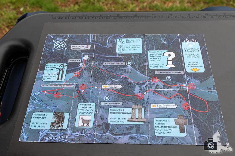 Berggeheimnis Schauinsland - Karte