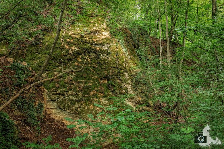 Wanderung Steinzeitpfad Ehrenkirchen - Felsen