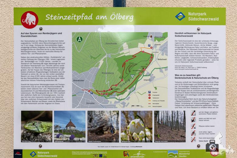 Wanderung Steinzeitpfad Ehrenkirchen - Infotafel