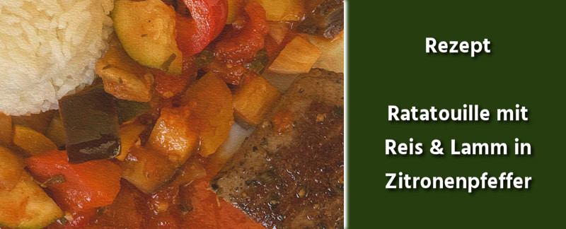 Rezept - Ratatouille, Reis & Lamm