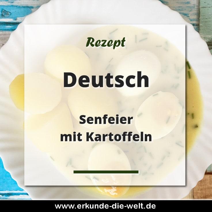 Rezept - Deutsche Küche - Senfeier mit Kartoffeln