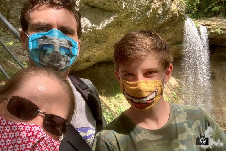 Ausflug mit Maske