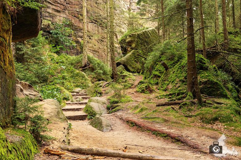 Elbsandsteingebirge - Schrammsteine Wanderweg