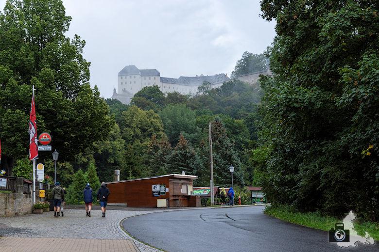 Elbsandsteingebirge - Festung Königstein im Nebel
