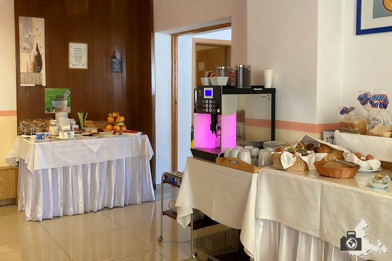 Frühstück im Hotel Luca
