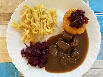 Rezept - Deutsche Küche -Rehragout in Schokoladensauce
