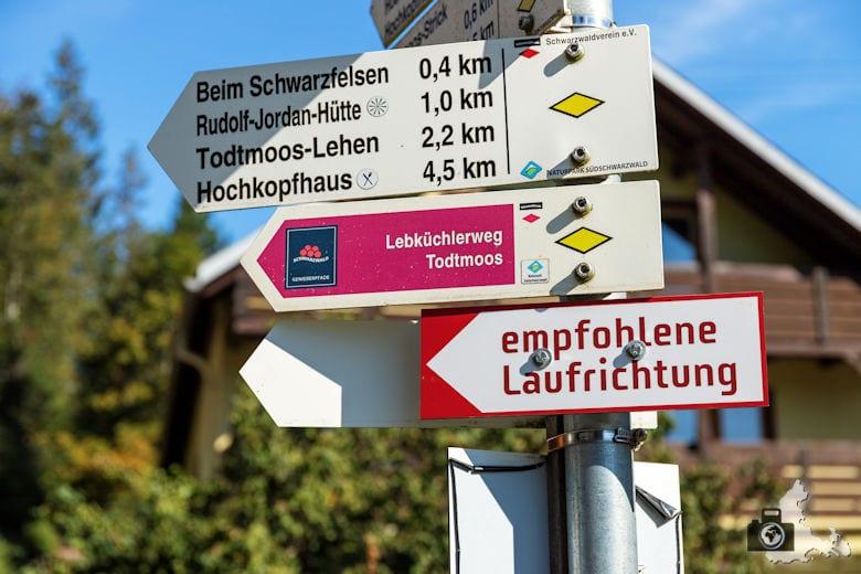 Schwarzwälder Genießerpfad - Lebküchlerweg - Wegweiser