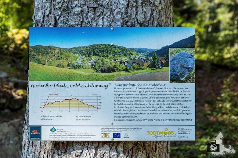 Schwarzwälder Genießerpfad - Lebküchlerweg - Infotafel