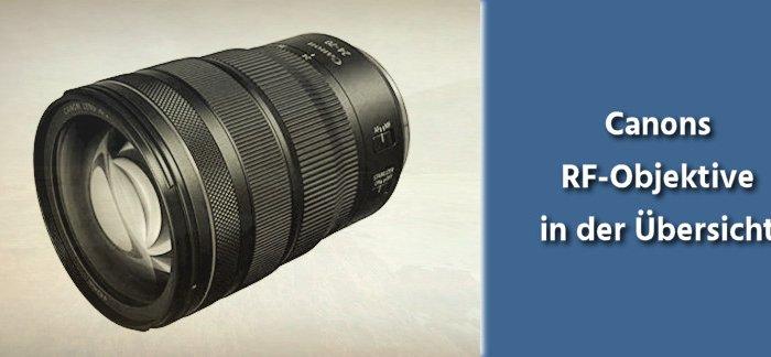 Canon RF Objektive – Übersicht
