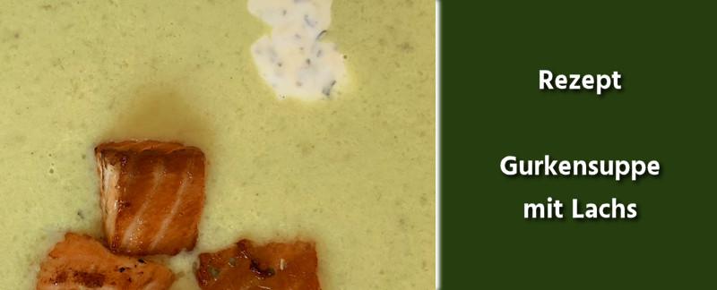 Rezept - Deutsche Küche - Gurkensuppe mit Lachs