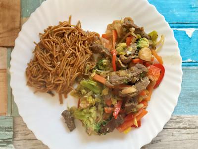 Rezept - Asiatische Küche -Rindfleisch mit Wok-Gemüse