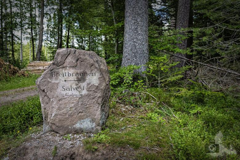 Schwarzwälder Genießerpfad - Waldpfad Groppertal - Wegstein