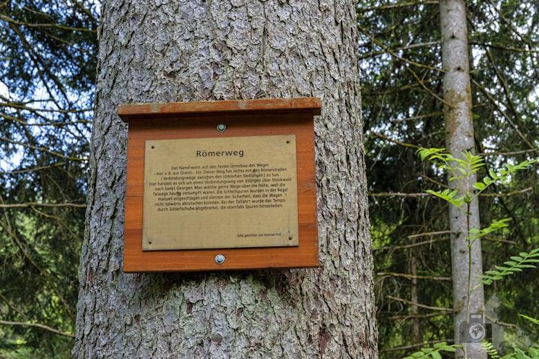 Schwarzwälder Genießerpfad - Waldpfad Groppertal - Hinweistafel