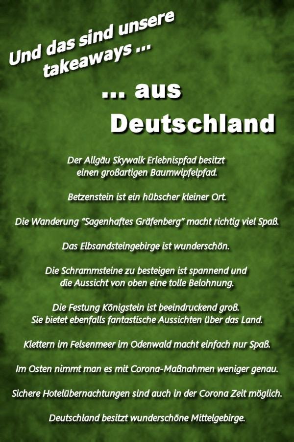 Takeaways Deutschland
